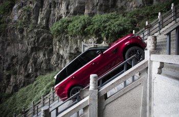 Range Rover Sport leo 999 bậc dốc dựng đứng cổng trời