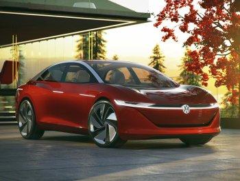 "Xe điện Volkswagen I.D. Vizzion ""thách thức"" Tesla Model S"