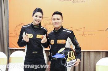 Ngọc Hân, Quang Hải bất ngờ tham gia đua xe địa hình KOK 2018