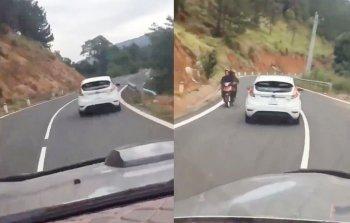 Clip ôtô đánh võng trên đường đèo Đà Lạt