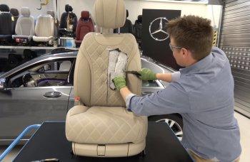"""Mục sở thị màn """"mổ xẻ"""" ghế ngồi trên xế sang Mercedes S-Class"""