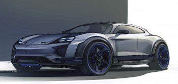 Porsche bắt đầu khoe Macan chạy điện - Mission E Cross Turismo