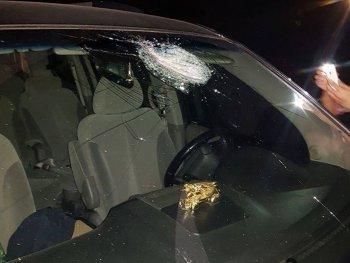Ôtô lại bị ném đá trên cao tốc Hà Nội-Thái Nguyên, chưa rõ nguyên nhân