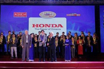 Honda Việt Nam được vinh danh tại giải thưởng Rồng Vàng 2018