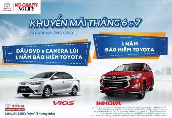Toyota Việt Nam thực hiện ưu đãi khi mua Innova và Vios trong tháng 6,7