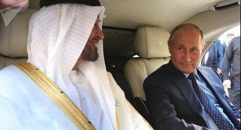 """Tổng thống Putin """"khoe"""" xe limo mới trước Thái tử Abu Dhabi"""