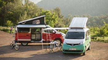Vi vu cùng xe cắm trại Nissan