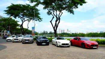 """Dàn siêu xe Maserati """"giao lưu"""" tại Sài Gòn"""