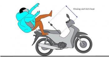 Áo túi khí đi xe máy giá rẻ cho người Việt