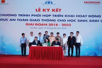 Honda Việt Nam thúc đẩy hoạt động giáo dục ATGT giai đoạn 2018-2023