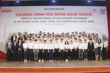 Toyota cấp học bổng dạy nghề cho học sinh Việt