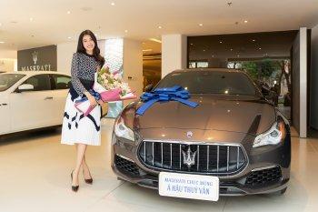 Á hậu Thúy Vân sở hữu xe Maserati Quattroporte GranLusso giá 7,9 tỷ đồng