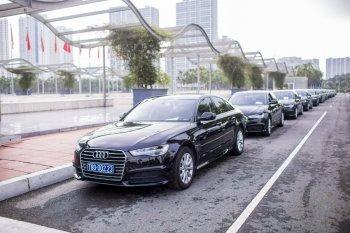Audi cung cấp đội xe 55 chiếc đón khách Diễn đàn Kinh tế Thế giới tại Hà Nội