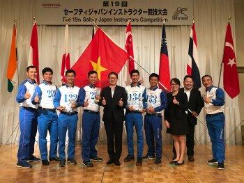 Honda Việt Nam đứng nhất tại Cuộc thi Hướng dẫn viên Đào tạo Lái xe an toàn Quốc tế 2018