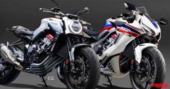 Lộ ảnh cặp đôi Honda CBR650R và CB650R 2019