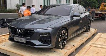 Xe sedan VinFast bất ngờ xuất hiện trước ngày được trưng bày tại Việt Nam