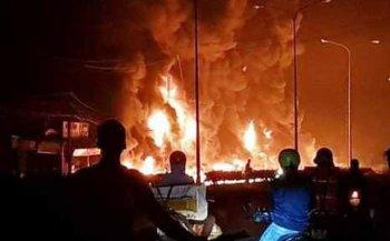 Cháy xe bồn chở xăng, 6 người thiệt mạng