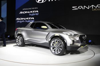 Hyundai hứa hẹn trình làng xe bán tải dựa trên Santa Cruze 2015