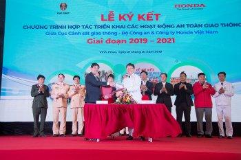Honda Việt Nam tiếp tục đồng hành cùng Cục Cảnh sát Giao thông