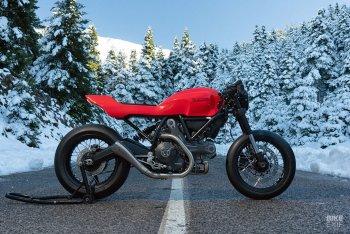 """Ducati Scrambler 800 """"phẫu thuật thẩm mỹ"""" thân vỏ qua bàn tay xưởng độ Jigsaw"""