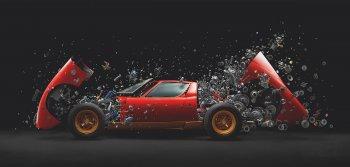 """Khoảnh khắc Lamborghini Miura """"nổ tung"""" thành nghìn mảnh"""