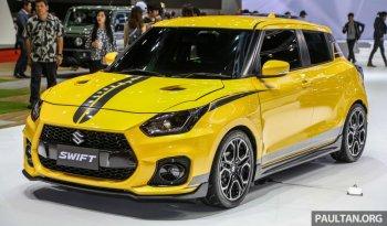 Xe độ Suzuki Swift Sport 2019 màu vàng thời trang, đậm chất xe chơi