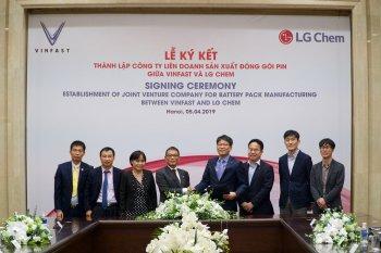 VinFast bắt tay cùng LG Chem thành lập liên doanh sản xuất pin