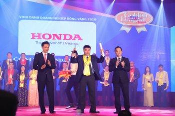 Honda Việt Nam được vinh danh tại giải thưởng Rồng Vàng 2019