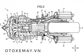 Suzuki hé lộ thiết kế ống xả bất đối xứng trên Hayabusa hoàn toàn mới