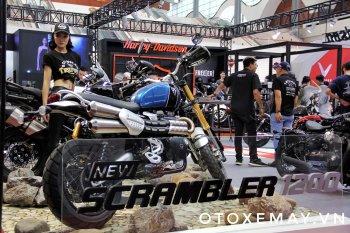 Cận cảnh Triumph Scrambler 1200XE tại triển lãm Việt Nam Auto Expo 2019