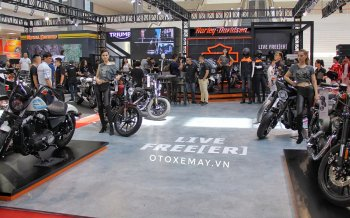 Gian hàng Harley-Davidson với những chiếc xe tiền tỷ tại Vietnam Auto Expo 2019
