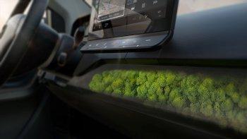 Độc đáo xe điện với nội thất... mọc rêu
