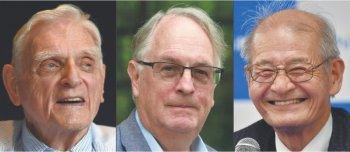 """""""Bộ ba"""" tiên phong về pin lithium-ion giành giải Nobel Hóa học"""