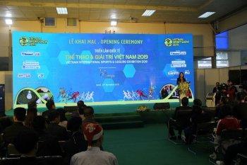 Triển lãm quốc tế Thể thao và Giải trí Việt Nam 2019 chính thức khai mạc tại Hà Nội
