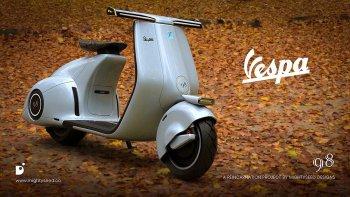 Kiệt tác xe điện Vespa 98: Bản concept đầy mê hoặc
