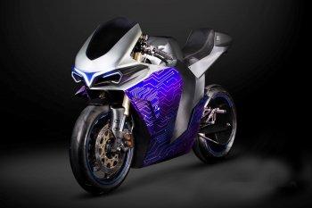 Emula Electric Concept: Siêu môtô điện tương lai thay đổi sức mạnh kèm âm thanh động cơ