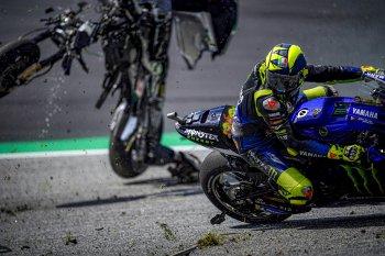 Valentino Rossi cảm thấy may mắn khi tránh được tai nạn kinh hoàng tại GP Áo