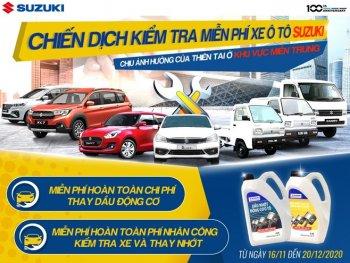 Suzuki triển khai chiến dịch đồng hành cùng miền Trung, kiểm tra xe và thay dầu động cơ miễn phí