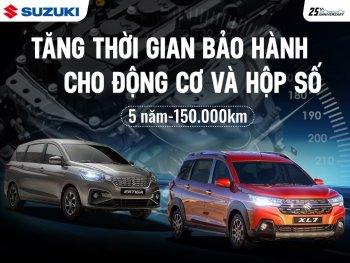 Suzuki mở rộng thời hạn bảo hành hộp số và động cơ cho New Ertiga và XL7