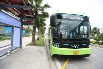 Xe buýt điện chính thức vận hành tại Việt Nam