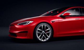 Xe điện Tesla có thể được gắn súng laser thay vì cần gạt