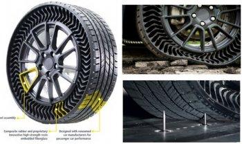 Michelin chính thức ra mắt lốp không cần bơm hơi